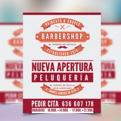 Flyer apertura Barbershop